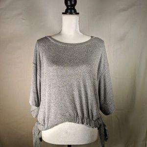 GAP Gray Sweater w/ Waist Tie - Loose Fit - Medium